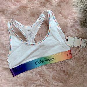 Calvin Klein pride rainbow bralette